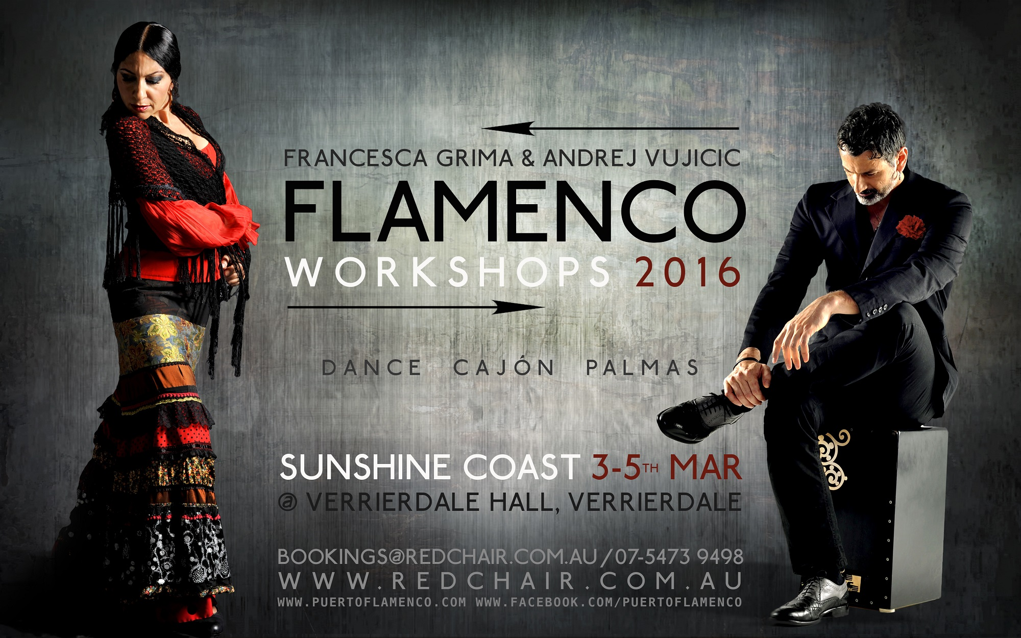 "Flamenco Workshop Series with Francesca ""La Chica"" Grima and Andrej Vujicic (Sunshine Coast)"