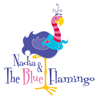 Nadia & The Blue Flamingo Logo